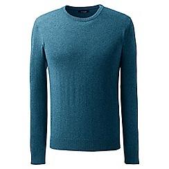 Lands' End - Blue crew neck cashmere sweater