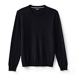 Lands' End - Black men's crew neck cashmere sweater