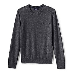 Lands' End - Grey men's crew neck cashmere sweater