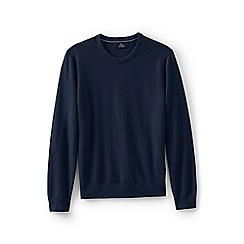 Lands' End - Blue men's crew neck cashmere sweater