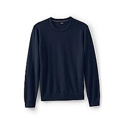 Lands' End - Blue men's crew neck cashmere sweater