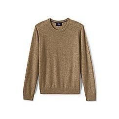 Lands' End - Beige crew neck cashmere sweater
