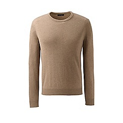 Lands' End - Brown crew neck cashmere sweater