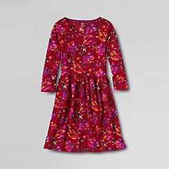 Lands' End - Red little girls' ponte dress