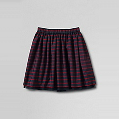 Lands' End - Blue girls' plaid taffeta skirt