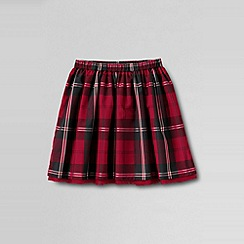 Lands' End - Red girls' plaid taffeta skirt