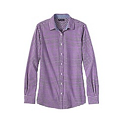 Lands' End - Purple women's chambray-trimmed flannel shirt