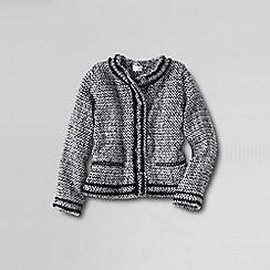 Lands' End - Multi girls' long sleeved tweed button front jacket