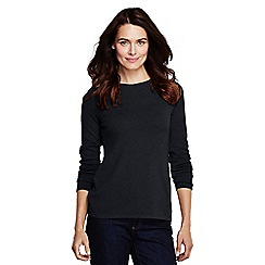 Lands' End - Black women's classic cashmere jumper