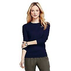 Lands' End - Blue women's classic cashmere jumper