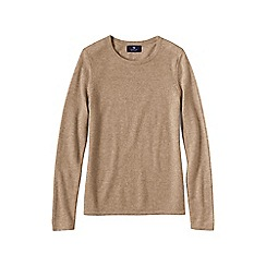 Lands' End - Beige women's classic cashmere jumper