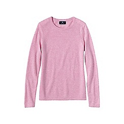 Lands' End - Pale pink women's classic cashmere jumper