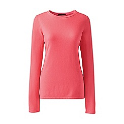 Lands' End - Orange regular classic cashmere jumper