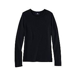 Lands' End - Black women's petite cashmere long sleeve jumper