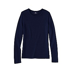 Lands' End - Blue women's petite cashmere long sleeve jumper