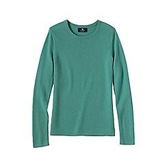 Lands' End - Green women's petite cashmere long sleeve jumper