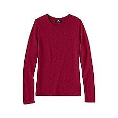 Lands' End - Pink women's petite cashmere long sleeve jumper