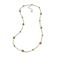 Lands' End - Gold nautical knot long necklace