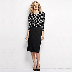 Lands' End - Black women's regular ponte jersey pencil skirt