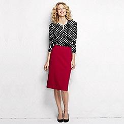 Lands' End - Red women's regular ponte jersey pencil skirt