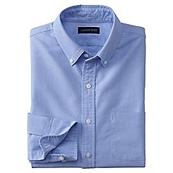 Lands' End - Blue men's tailored fit sail rigger oxford shirt