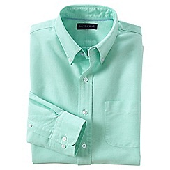 Lands' End - Green tailored fit sail rigger oxford shirt