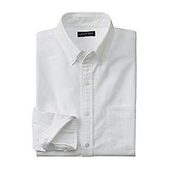 Lands' End - White men's tailored fit sail rigger oxford shirt