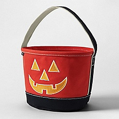 Lands' End - Orange glow-in-the-dark halloween bucket bag