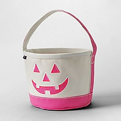 Lands' End - White glow-in-the-dark halloween bucket bag
