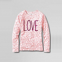 Lands' End - Multi little girls' crew neck graphic tee
