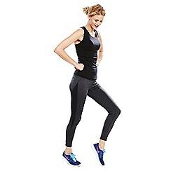 Lands' End - Grey petite shaping workout leggings