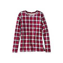 Lands' End - Red cotton modal crew neck