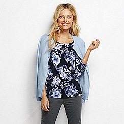 Lands' End - Multi women's pleat front floral top
