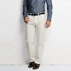Lands' End - Cream new denim straight fit jeans
