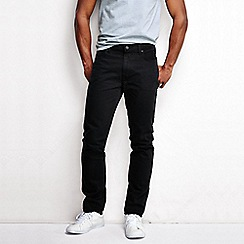 Lands' End - Black men's slim fit denim jeans