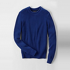 Lands' End - Blue men's gifting shaker roll neck