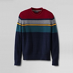 Lands' End - Multi men's gifting shaker stripe roll neck