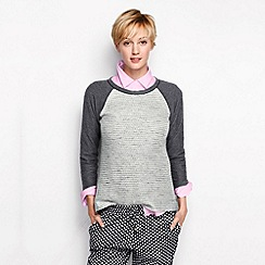 Lands' End - Grey women's reverse texture sweatshirt