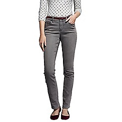 Lands' End - Grey women's smoke mid rise straight leg jeans