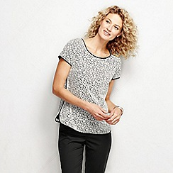 Lands' End - White women's regular short sleeve lace top