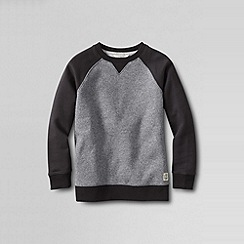 Lands' End - Grey boys' marled colourblock sweatshirt