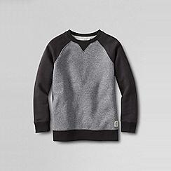 Lands' End - Grey boys' marled colourblock sweatshirt