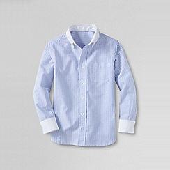 Lands' End - Blue little boys' white collar oxford shirt