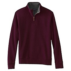 Lands' End - Red regular brushed rib pullover