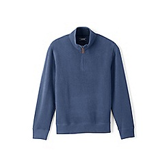 Lands' End - Blue regular brushed rib pullover