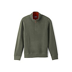Lands' End - Green regular brushed rib pullover