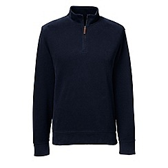 Lands' End - Blue regular brushed rib pullover