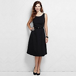 Lands' End - Black women's regular scoop back textured dress