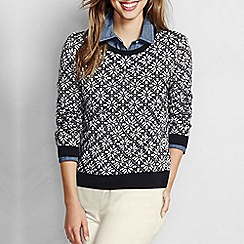 Lands' End - Multi women's supima fair isle jumper
