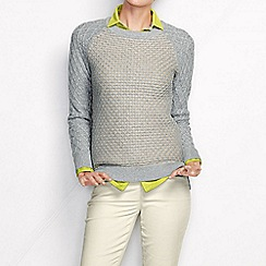 Lands' End - Grey women's diamond stitch sweater